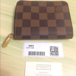 Louis Vuitton Handbags - Authentic Damier Ebene Zippy Wallet Pouch with tag