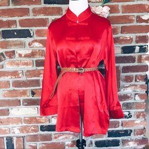 Valentino Jackets & Blazers - Vtg 80s Valentino Boho Kimono Robe Blouse Jacket S
