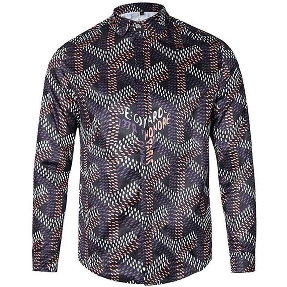Goyard Other - Custom Goyard Print Button Down Shirt M MEDIUM f9696232b7d