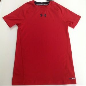 UNDER ARMOUR Heat Gear Red Fitted Shirt Small