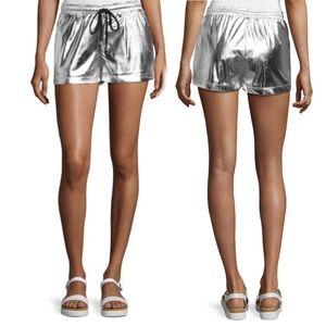 JOA Pants - NWOT JOA Silver Drawstring Shorts