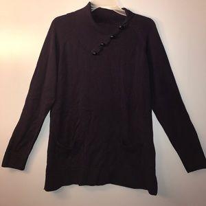 Jeanne Pierre Sweaters - Jeanne Pierre Purple Button Pocket Sweater