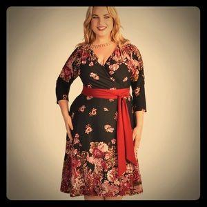 Igigi Dresses & Skirts - Igigi Dominique Fall Floral Dress Retro 14/16 1X