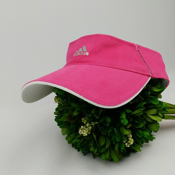 Adidas Visor hat one size hot pink and white 60d5a8e076f