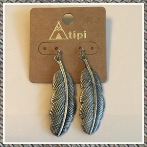 Western Burnished Silvertone Earrings