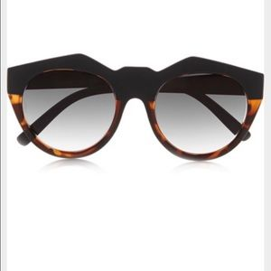 Le Specs Accessories - Le Specs Neo Noir round frame acetate sunglasses