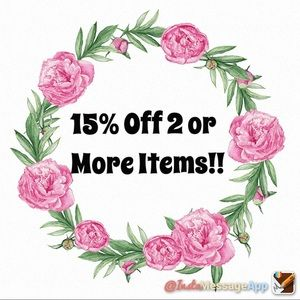 15% off 2 or more items & Same Day Shipping!