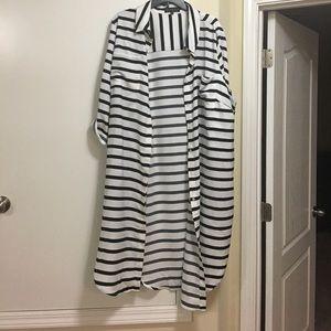 Eloquii Dresses & Skirts - Eloquii Striped shirt dress