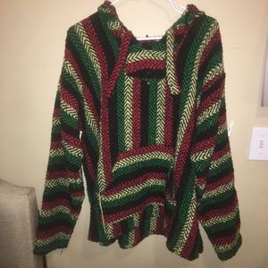 Sweaters - Parca style pull over hoodie!