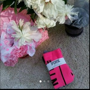 Set of rare VS Pink tube socks