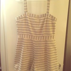 Paper Crown Dresses & Skirts - Paper Crown - white with navy stripes - Romper