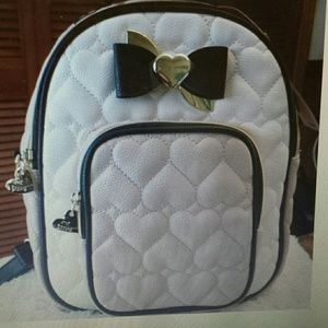 Betsy Johnson  Handbags - Betsy Johnson NWT Mini Convertible Sand Backpack