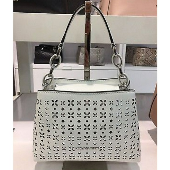 9be4cc08aaceb Portia Small Perforated Saffiano Leather. NWT. Michael Kors