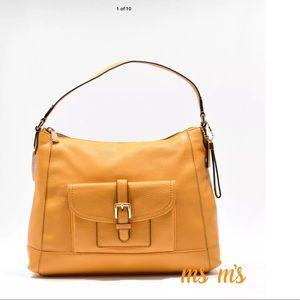 Coach Handbags - Coach orange peel pebble leather hobo