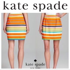 kate spade Dresses & Skirts - NWT Kate Spade striped Pencil SKIRT 00