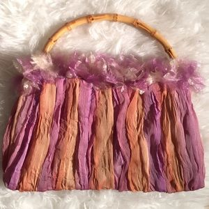 Fabulous froufrou bag with bamboo handle