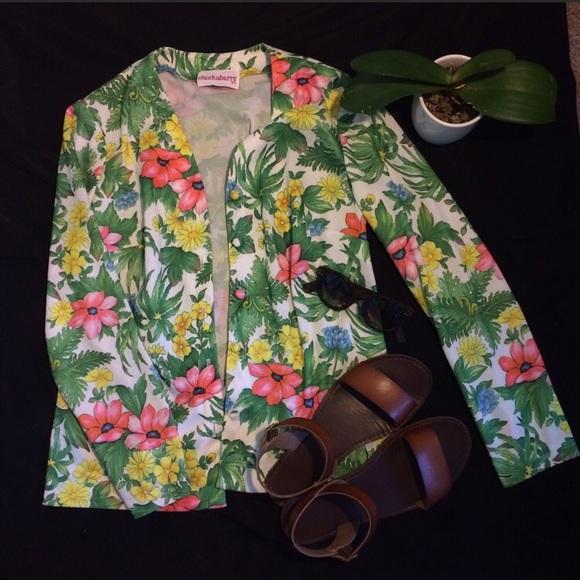 Jackets & Blazers - Vintage 70's Floral Top