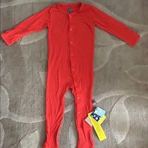 Kickee Pants Pajamas Nwt Orange Footed Pjs Size 4t