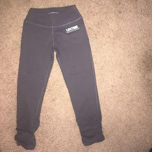 Beyond Yoga Pants - Brand New Beyond Yoga stretchy Gray Ruched Capris!