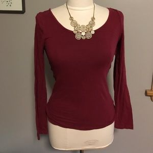 bozzolo Tops - Long sleeve red shirt