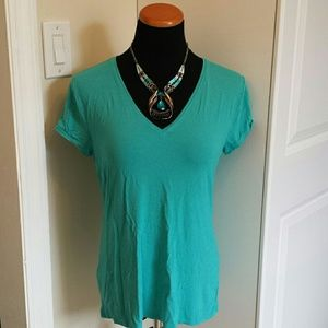 Anne Klein Tops - Classic Solid V Neck Tee from Anne Klein