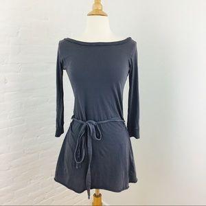 Velvet Dresses & Skirts - Velvet Cotton Minidress