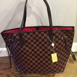 Fashion Nova Handbags - Brown checkered tote bag