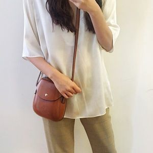 Boutique-Brown shell bag