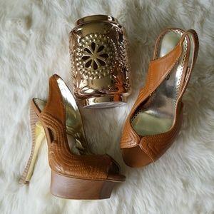 bebe Shoes - Light Brown Bebe platfoms