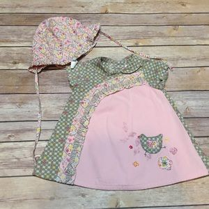 Catimini Other - Catimini Atelier Pink Dress and Sun Hat 6 Months