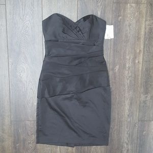 Davids Bridal Black Sweetheart Halter Dress - sz 4