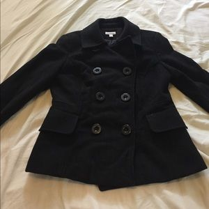 Charter Club Jackets & Blazers - Black Wool Pea Coat, Great Condition!