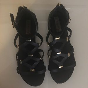 Steve Madden Shoes - Steve Madden black and gold sandals