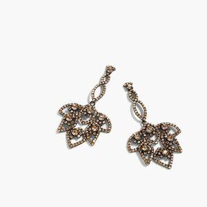 J. Crew Jewelry - New j.crew metallic lotus pave earrings