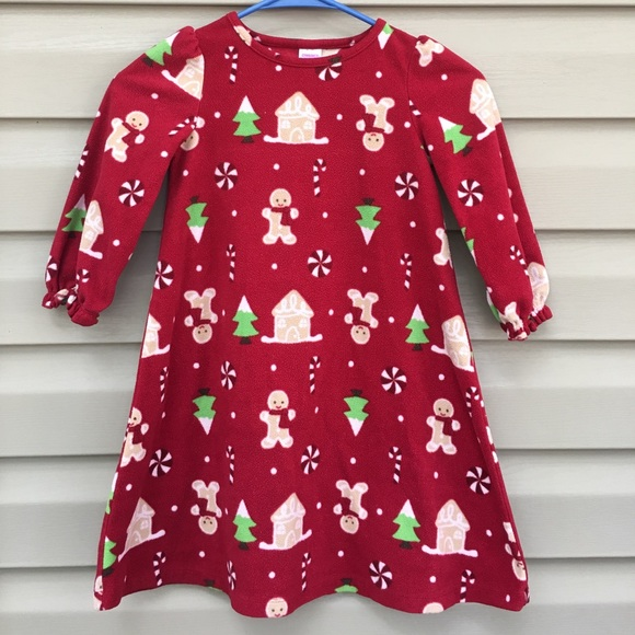 gymboree girls fleece christmas nightgown - Girls Christmas Nightgowns