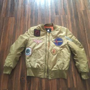 American Stitch Other - Tan American Stitch  Bomber Jacket