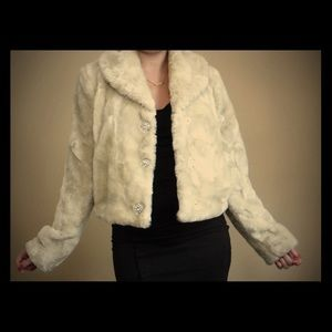Black Rivet Jackets & Blazers - Faux fur jacket