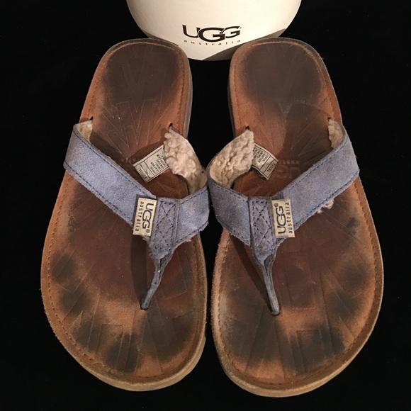90 Off Ugg Shoes - Ugg Flip Flops Leather Sheepskin -5328