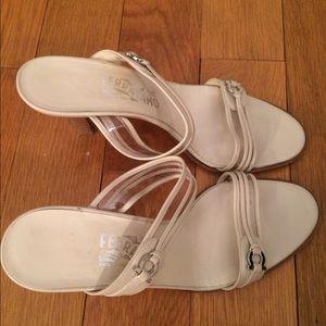 Ferragamo Shoes - Ferragamo nude sandals with heel