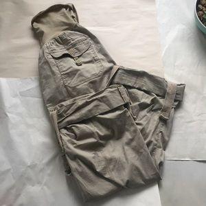 Motherhood Maternity Pants - Motherhood Maternity Khaki Cargo Cropped Pants