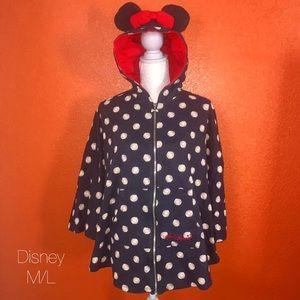 Disney Black Polka Dot Minnie Mouse Poncho M/L