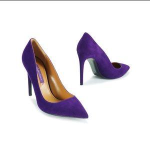 Ralph Lauren Purple Label Shoes - Ralph Lauren Collection- purple Suede heels