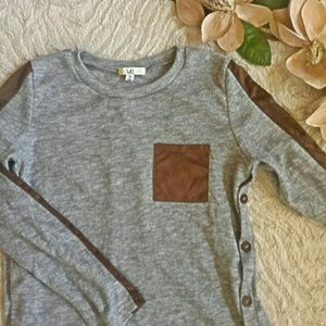 Ya Los Angeles grey and brown lightweight sweater