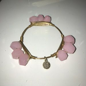 Bourbon and Bowties Jewelry - Pale Pink Bourbon & BowTies Bracelet