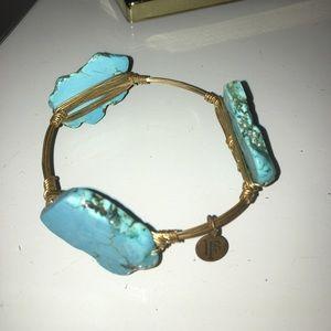 Bourbon and Bowties Jewelry - Teal Blue Bourbon & BowTies Bracelet