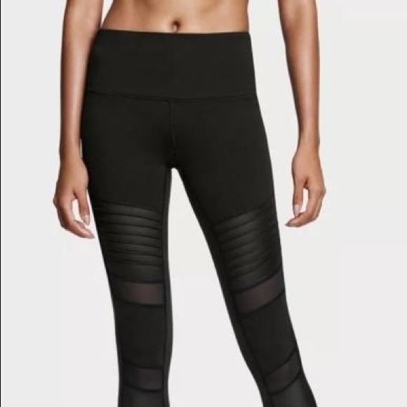 6c6b82f88220d Victoria's Secret Pants | Black Moto Victoria Sport Knockout ...