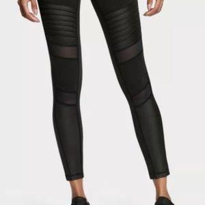 8b237a8cc96ed Victoria's Secret Pants - Black Moto Victoria Sport Knockout Leggings