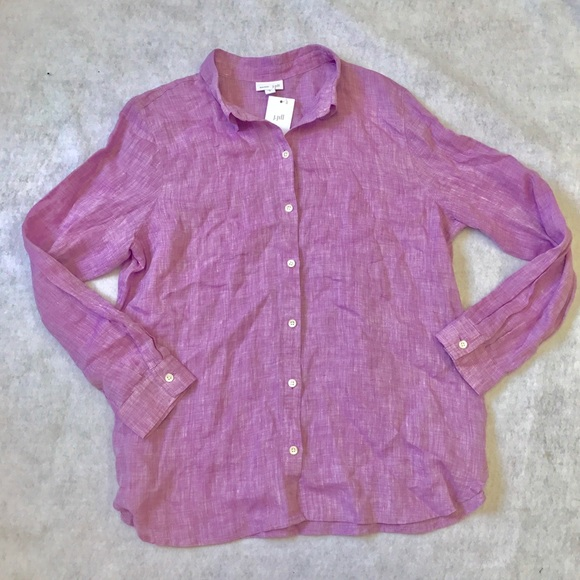 25 Off J Jill Tops J Jill Lilac Linen Button Down
