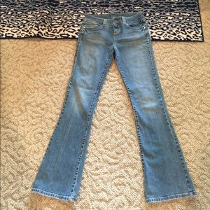 Long Elegant Legs Denim - LEL BELL FLARE JEANS SIZE TALL 10 WIDE WAISTBAND