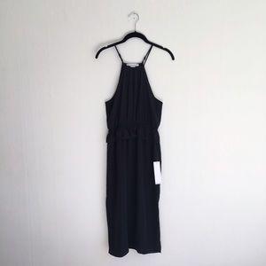 NWT bcbgeneration black peplum midi dress